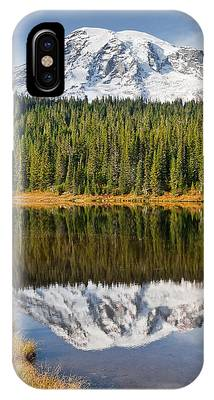 Mount Rainier And Reflection Lakes In The Fall IPhone Case