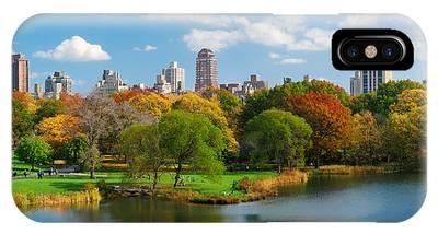 New York City Manhattan Central Park Panorama IPhone Case
