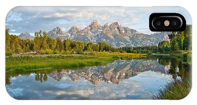 Teton Range Reflected In The Snake River IPhone Case