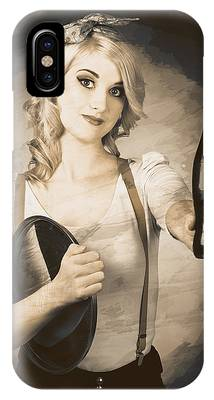 Vintage Soda Drink Advert. Pinup With Cola Bottle IPhone Case by Jorgo Photography - Wall Art Gallery