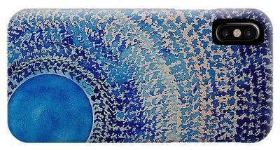 Blue Kachina Original Painting IPhone Case