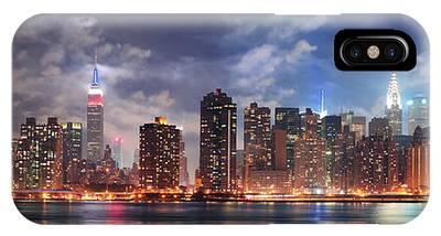 New York City Manhattan Midtown At Dusk IPhone Case
