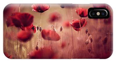 Red Poppies Phone Cases