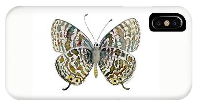 51 Lang's Short-tailed Blue Butterfly IPhone Case