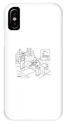 A Man Reads A Letter That Has Lines IPhone Case