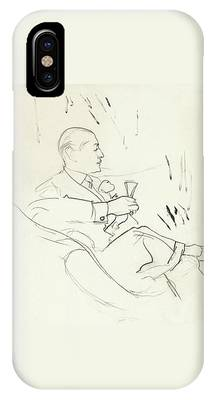 A Man With A Glass Of Wine IPhone Case