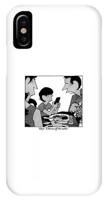 A Mother, Father And Son At Family Dinner IPhone Case