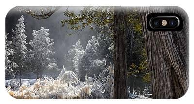 North Shore Lake Superior Spring Melt Gooseberry River Gooseberry Falls iPhone Cases