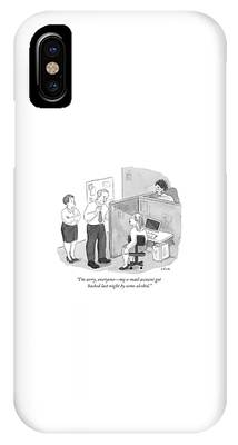 A Sheepish Looking Man Speaks To His Office IPhone Case