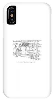 A Son Speaks To His Father IPhone Case