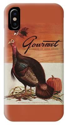 A Thanksgiving Turkey And Pumpkin IPhone Case