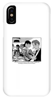 A Woman Is Criticizing Her Husband At A Dinner IPhone Case