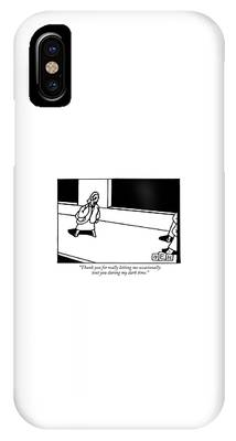 A Woman Walks Down The Street While Talking IPhone Case