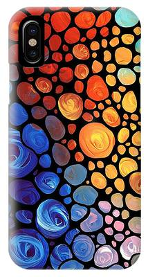 Red Abstract Phone Cases