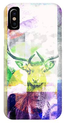 Abstract Nature Deer Portrait IPhone Case
