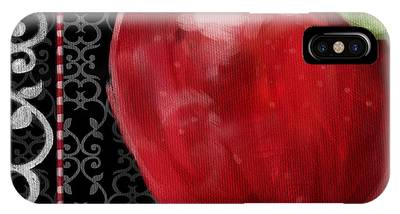 Apple On Black And White IPhone Case