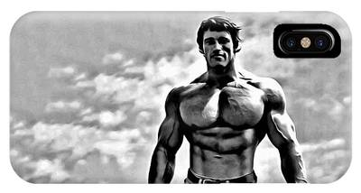 IPhone Case featuring the painting Arnold Schwarzenegger by Florian Rodarte