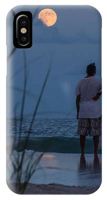 IPhone Case featuring the photograph Atlantic Blue Moon by Francis Trudeau