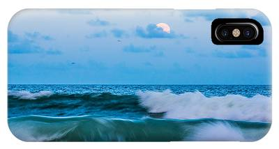 IPhone Case featuring the photograph August Blue Moon by Francis Trudeau