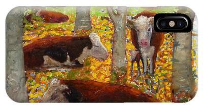 Autumn Cows IPhone Case