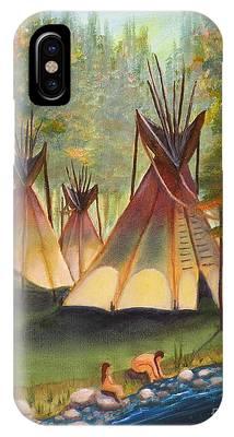 Autumn River Camp IPhone Case
