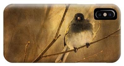 Backlit Birdie Being Buffeted  IPhone Case