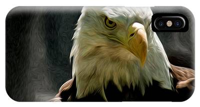 Bald Eagle Giving You That Eye IPhone Case