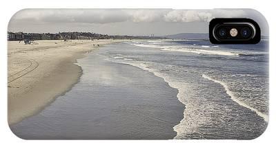 Beach At Santa Monica IPhone Case