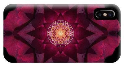 Beach Rose I Flower Mandala IPhone Case
