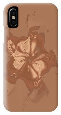 Beige Satin Morning Glory IPhone Case