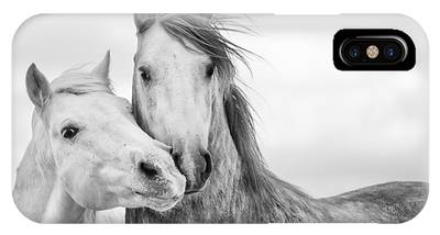 Black And White Horse Phone Cases