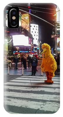 Big Bird On Times Square IPhone Case