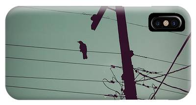 IPhone Case featuring the photograph Bird On A Wire by Patricia Strand