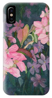 Blossoms For Sally IPhone Case by Lynn Quinn