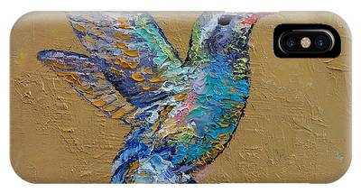 Abstract Hummingbird Phone Cases