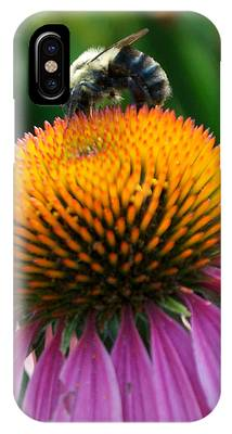Blue Striped Bee IPhone Case