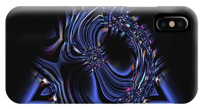Blue Triangle Jewel Abstract IPhone Case