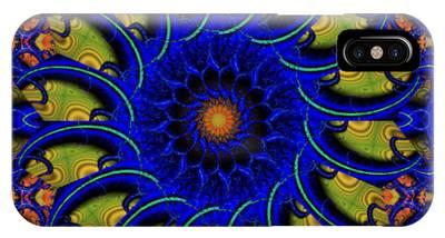 Blue Whirligig IPhone Case
