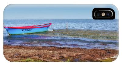 Boat At The Pond IPhone Case