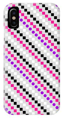 Geometric Digital Art iPhone Cases