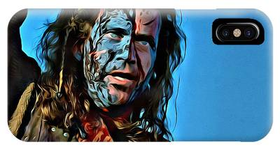 IPhone Case featuring the painting Braveheart by Florian Rodarte
