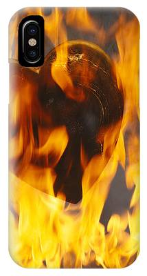 Burning Heart Phone Cases