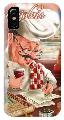 Busy Chef With Beaujolais IPhone Case