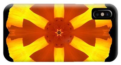 California Poppy Flower Mandala IPhone Case