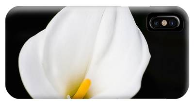 IPhone Case featuring the photograph Calla Lily Flower Face by Richard J Thompson