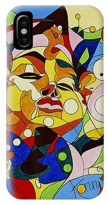 Cartoon Painting With Hidden Pictures IPhone Case