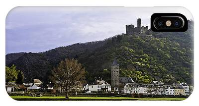 IPhone Case featuring the photograph Castle On Hill Above Town by Richard J Thompson