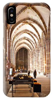 IPhone Case featuring the photograph Cathedrale Notre Dame De Strasbourg France by Richard J Thompson
