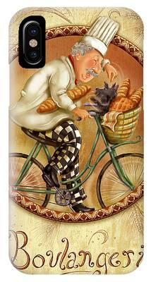 Chefs On Bikes-boulangerie IPhone Case