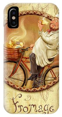 Chefs On Bikes-fromage IPhone Case
